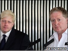 London Mayor Boris Johnson and Sir Ian Blair