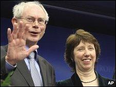 Herman Van Rompuy and Catherine Ashton in Brussels, 19 November 2009