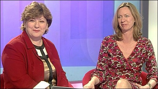 Labour's Emily Thornberry and Justine Roberts from Mumsnet