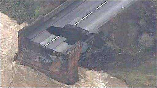 Cumbrian flood scene