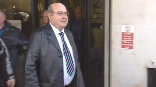 Raymond Thomas, Brian Thomas's brother, leaves Swansea Crown Court