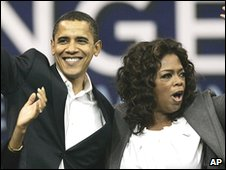 Barack Obama and Oprah Winfrey
