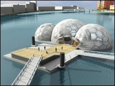 Floating pavilion, illustration courtesy of Rotterdam Climate Proof