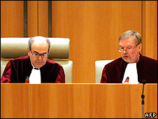 Judges at European Court of Justice, Luxembourg (file pic)