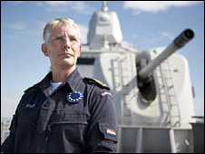 Cmdr Pieter Bindt, commander of the EU's anti-piracy taskforce