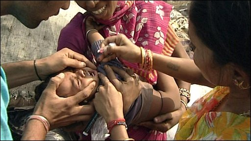 Child being given medicine