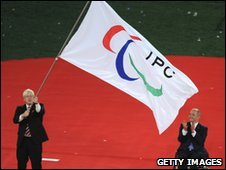 Boris Johnson waves IPC flag in Beijing
