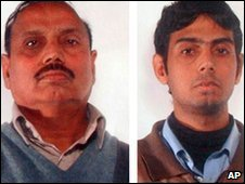 Mohammad Yaqub Janjua, left, and Aamer Yaqub Janjua, picture released by Italian police