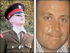 Guardsman Jimmy Major, left and Sgt Matthew Telford