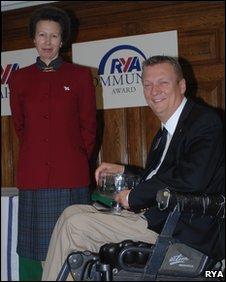 Geoff Holt with Princess Anne