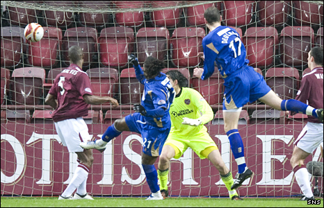 St Johnstone striker Collin Samuel equalised for the visitors at Tynecastle