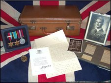 Collection of Sgt Redfern's letters, photographs and medals