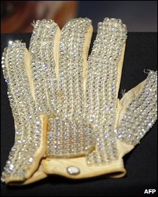 Michael Jackson's glove on display in New York