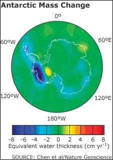 East Antarctic ice - graphic