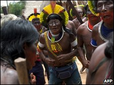 Members of the Kayapo tribe
