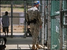 Guard in Guantanamo Bay detention centre (file image)