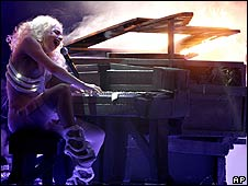 Lady Gaga performing at the American Music Awards