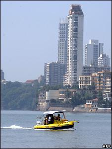 Police patrol Mumbai coastline