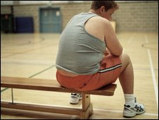 Overweight child ready for PE
