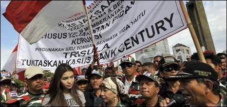 Protest in support of the anti-corruption commission in Jakarta, Indonesia - 23 November 2009
