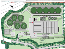 Site plan of Proactive Energy biogas plant in South Lanarkshire