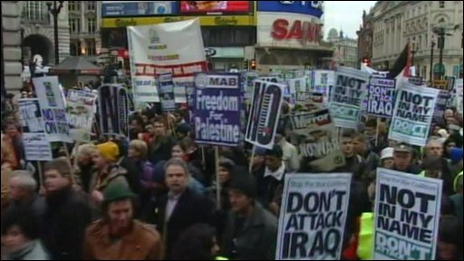Iraq War protest