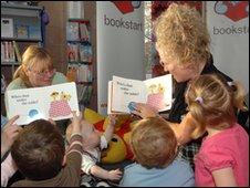 Children at Bookstart birthday party