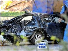 Car used in bomb attempt