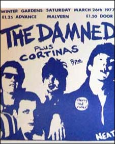 The Damned concert ticket