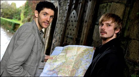 James consulting the map for their trip.