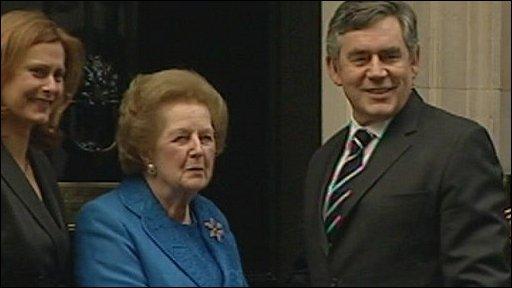 Sarah Brown, Baroness Thatcher and Gordon Brown