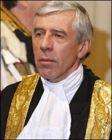 Justice Secretary Jack Straw at the state opening of Parliament
