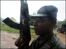 A Sri Lankan soldier during the conflict with the Tamil Tigers