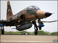 File photo of Iranian F-5 fighter jet, June 2009