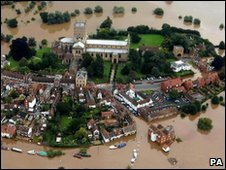 Flooding in Tewkesbury in 2007