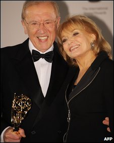 Sir David Frost and Barbara Walters