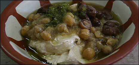 Dish of hummus, courtesy Abu Shukri 