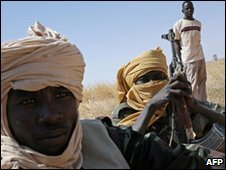 Fighters from the Justice and Equality Movement in Darfur, file image
