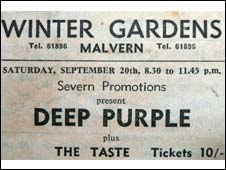 Deep Purple poster)courtesy of Richard Jones)