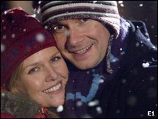 Ashley Jenson and Martin Freeman