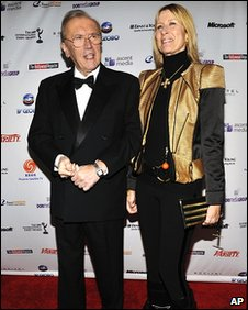 Sir David Frost with wife Lady Carina Fitzalan-Howard