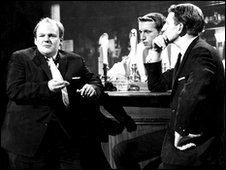 Roy Kinnear, David Frost and Lance Percival in That Was the Week That Was