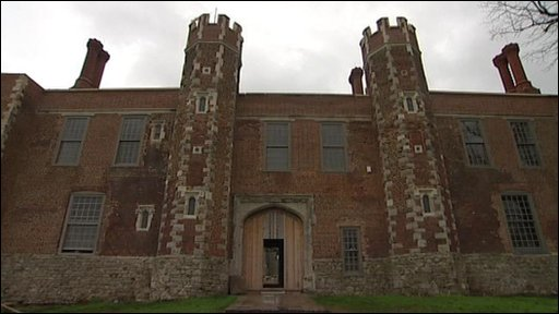 The front of Shurland Hall gatehouse