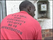 Soweto Electricity Crisis Committee electrician Levy, in Soweto