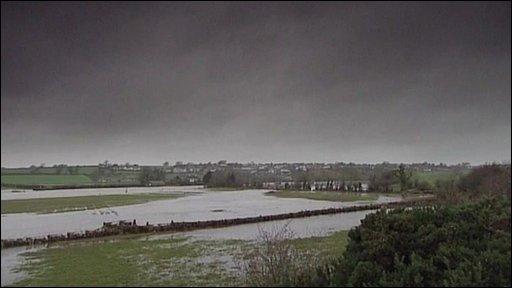 Dark clouds over Cumbria