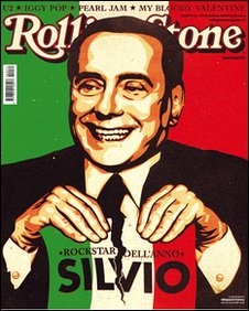 Italian Rolling Stone December cover, image courtesy of Rolling Stone