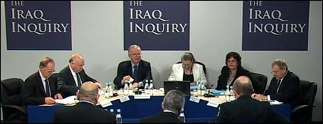 The Iraq war inquiry at a previous hearing
