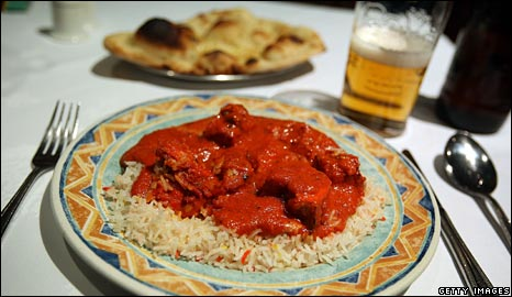 Curry, rice, nan and beer