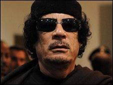 Libyan leader Col Muammar Gaddafi, file image