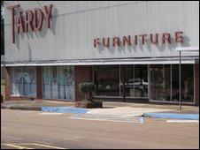 Tardy Furniture store, Winona Mississippi